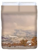 Low Winter Storm Clouds Colorado Rocky Mountain Foothills 7 Duvet Cover