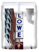 Lowe Drug Store Sign Color Duvet Cover