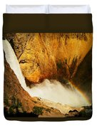 Lower Falls Yellowstone River Duvet Cover