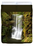 Lower South Falls At Silver Falls Duvet Cover