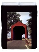 Loy's Station Covered Bridge Duvet Cover