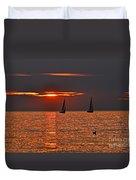 Red Maritime Dream Duvet Cover