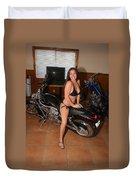 Biker 208 Duvet Cover