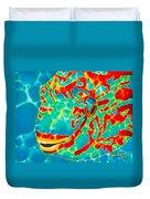 Lucky Parrotfish Duvet Cover by Daniel Jean-Baptiste