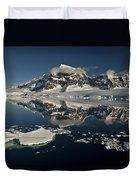Luigi Peak Wiencke Island Antarctic Duvet Cover by Colin Monteath