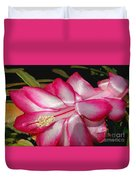 Luminous Cactus Flower Duvet Cover