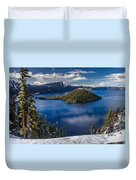 Luminous Crater Lake Duvet Cover