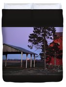 Lunar Eclipse At The Farm Duvet Cover