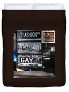 Lunch Time Between Fashion Ave And Gay Street Duvet Cover by Rob Hans