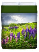 Lupin Flowers In Newfoundland Duvet Cover