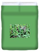 Lurking Spider In The Grass Duvet Cover