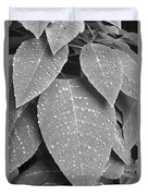Lush Leaves And Water Drops 2 Bw Duvet Cover