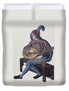 Lute Player, 1839 Duvet Cover