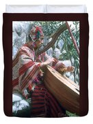 Lute Player Duvet Cover by Photo Researchers, Inc.