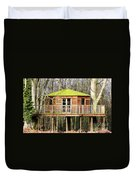 Luxury Tree House In The Woods Duvet Cover