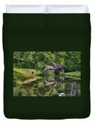 Mabry Mill And Pond With Reflection Duvet Cover