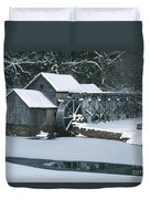 Mabry Mill Winter Duvet Cover
