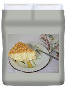 Macadamia Nut Cream Pie Slice Duvet Cover