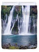 Macarthur-burney Falls Panorama Duvet Cover