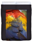 Macaw Parrot Plumes Duvet Cover