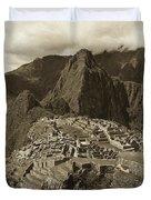 Machu Picchu Sepia Duvet Cover