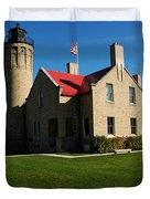 Mackinac Island Lighthouse Duvet Cover