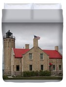 Mackinaw City Lighthouse Number 2446 Duvet Cover