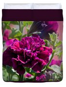 Maco Petunia Flower Double Burgundy Madness Art Prints Duvet Cover