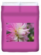 Macro Flower Profile Duvet Cover