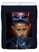 Mad Men Series 1 Of 6 - President Obama The Dark Knight Duvet Cover