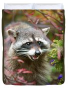 Mad Raccoon Duvet Cover