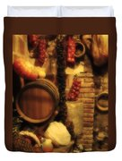 Madrid Food And Wine Still Life II Duvet Cover