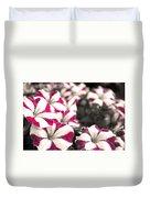Magenta Flowers Duvet Cover