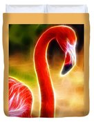 Magical Pink Flamingo Duvet Cover