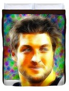 Magical Tim Tebow Face Duvet Cover