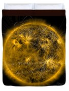 Magnetic Field Lines On The Sun Duvet Cover