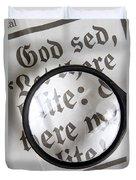 Magnifying News Duvet Cover
