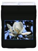 Magnolia In Blue Duvet Cover