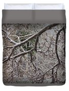 Magnolia Tree Branches Covered With Ice No.3834 Duvet Cover