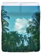 Mail Delivery In Paradise Duvet Cover