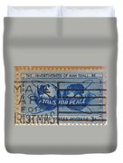Mail Early For Christmas And Peace Duvet Cover