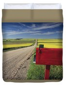 Mailbox On Country Road, Tiger Hills Duvet Cover