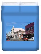 Main Street In Silver City Nm Duvet Cover