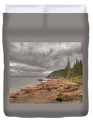 Maine Coastline. Acadia National Park Duvet Cover