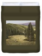 Majesty In The Rockies Duvet Cover