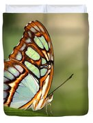 Malachite Butterfly Duvet Cover