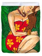 Malana Hula Girl Duvet Cover