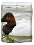 Male Canvasback Duck  Duvet Cover