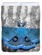 Male Moth Light Blue Duvet Cover