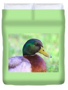 Mallard Drake In Shade Duvet Cover
